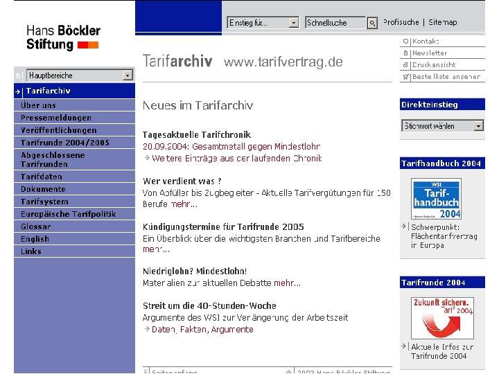 www. tarifvertrag. de Dr. Reinhard Bispinck