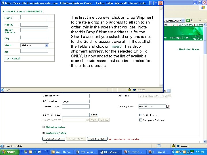 Intro to LFBC for PGtime you ever click on Drop Shipment The first Distributors