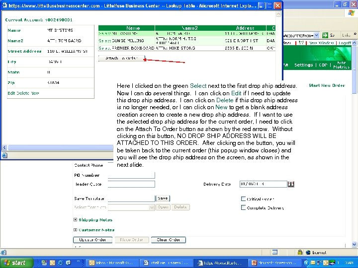 Intro to LFBC for PG Distributors Here I clicked on the green Select next