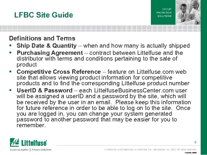 LFBC Site Guide Definitions and Terms § Ship Date & Quantity – when and