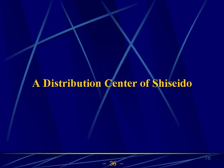 A Distribution Center of Shiseido 36