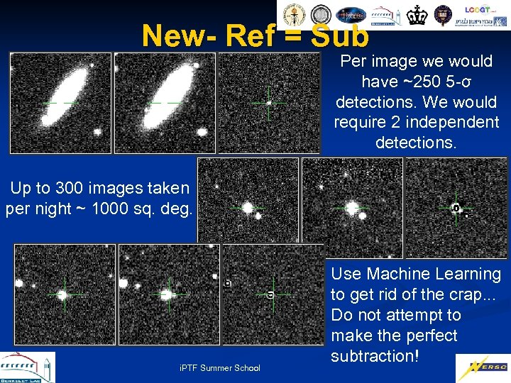 New- Ref = Sub Per image we would have ~250 5 -σ detections. We