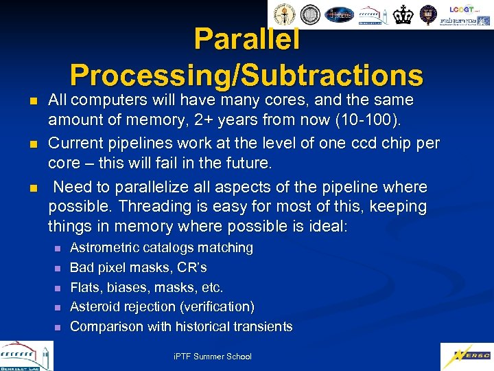 Parallel Processing/Subtractions n n n All computers will have many cores, and the same