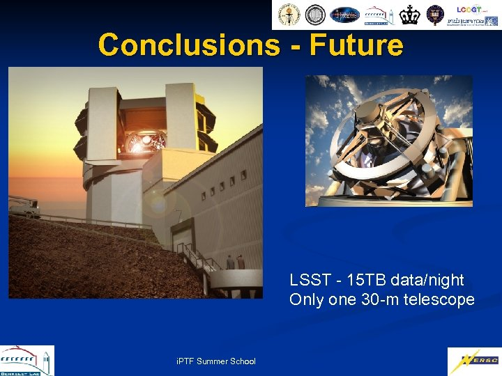 Conclusions - Future LSST - 15 TB data/night Only one 30 -m telescope i.