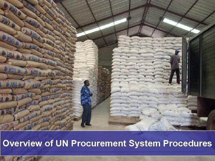 Overview of UN Procurement System Procedures