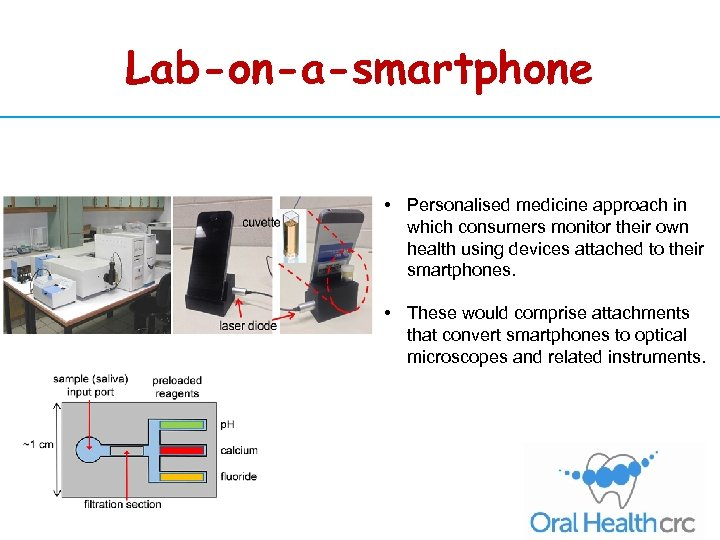 Lab-on-a-smartphone • Personalised medicine approach in which consumers monitor their own health using devices