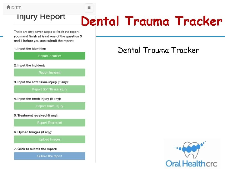 Dental Trauma Tracker