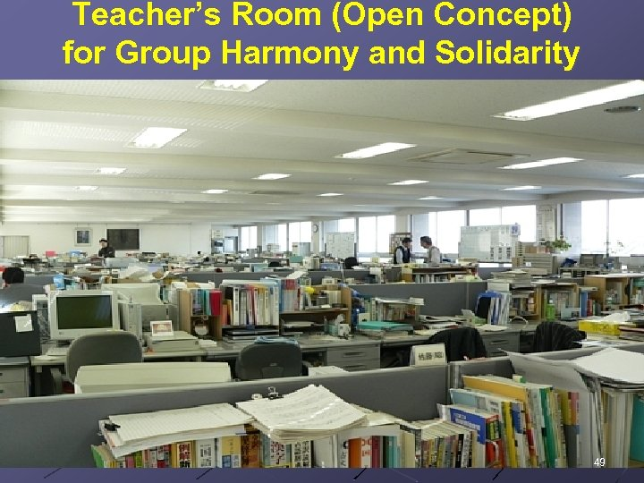 Teacher's Room (Open Concept) for Group Harmony and Solidarity 49