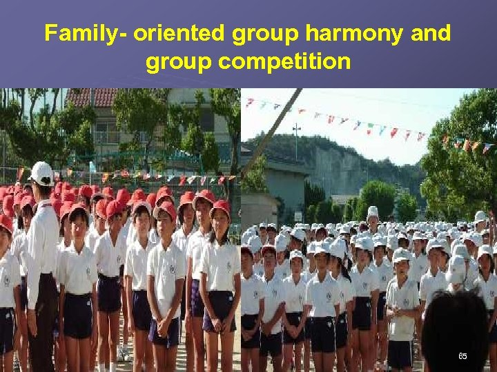 Family- oriented group harmony and group competition 65
