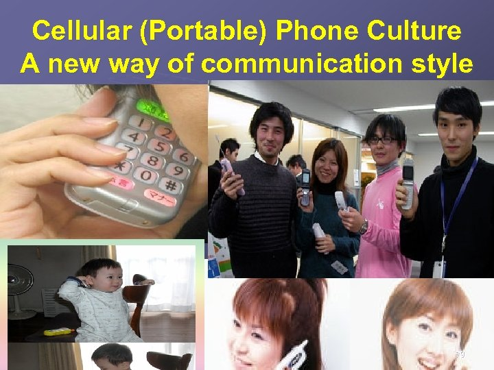 Cellular (Portable) Phone Culture A new way of communication style 79