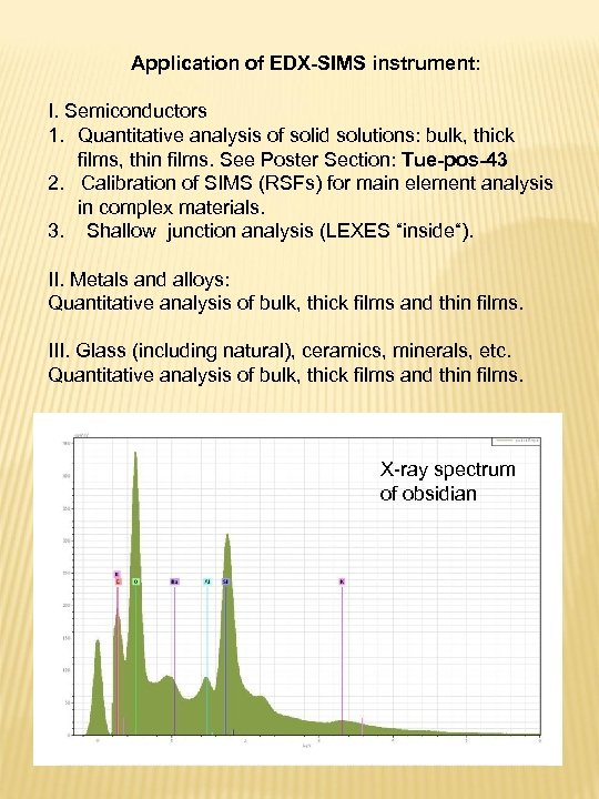 Application of EDX-SIMS instrument: I. Semiconductors 1. Quantitative analysis of solid solutions: bulk, thick