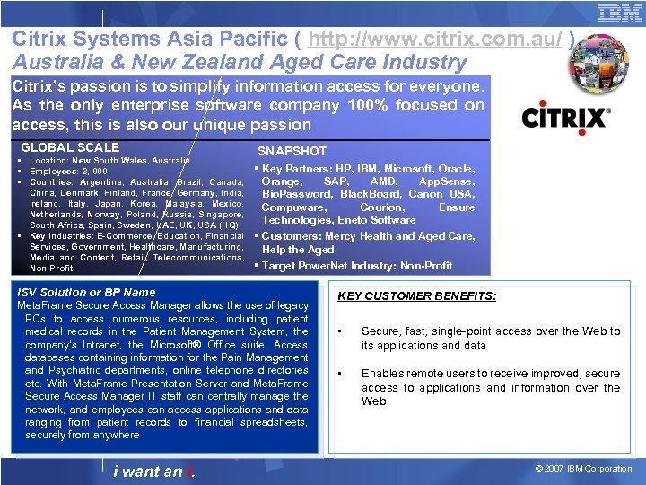 Citrix Systems Asia Pacific ( http: //www. citrix. com. au/ ) Australia & New