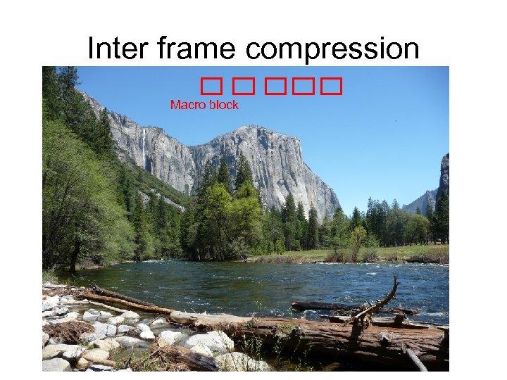 Inter frame compression Macro block