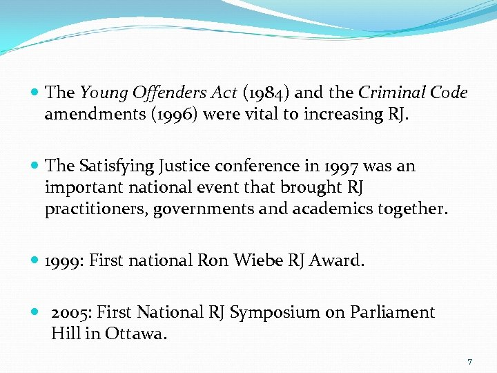 a summary of the young offenders act yoa in canada The young offenders act, however, legislated a uniform maximum age of 17 across canada the young offenders act applied to all youth who committed a crime before their eighteenth birthday due to disagreement between individual provinces and the federal government on what the maximum age should be, this section of the young offenders act was.