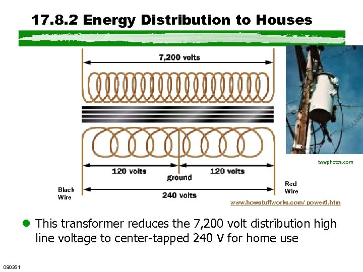 17. 8. 2 Energy Distribution to Houses Black Wire twwphotos. com Red Wire www.