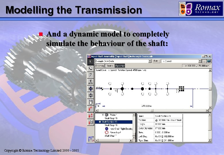 Modelling the Transmission n And a dynamic model to completely simulate the behaviour of