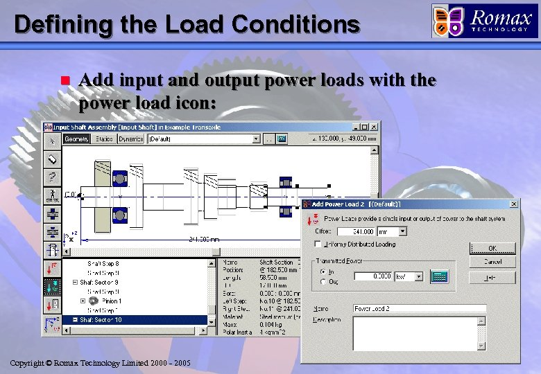 Defining the Load Conditions n Add input and output power loads with the power