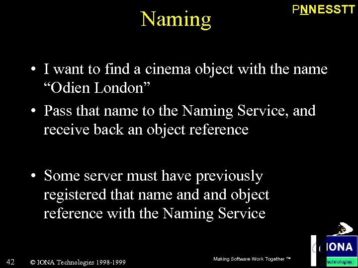 """PNNESSTT Naming • I want to find a cinema object with the name """"Odien"""