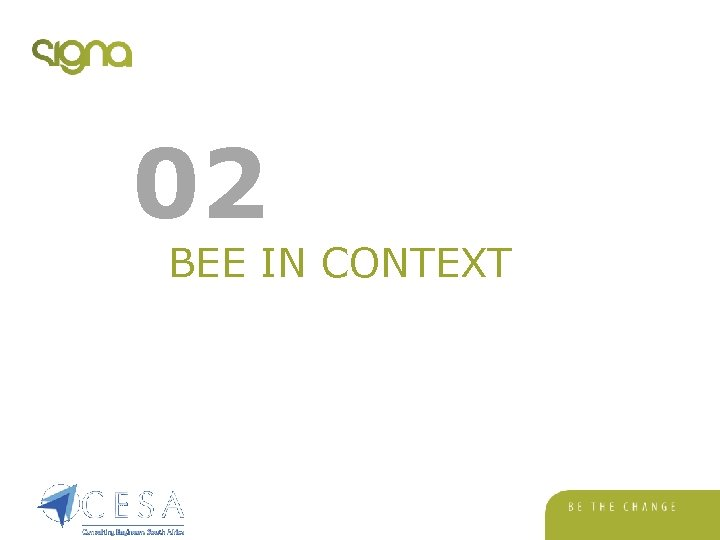 02 BEE IN CONTEXT
