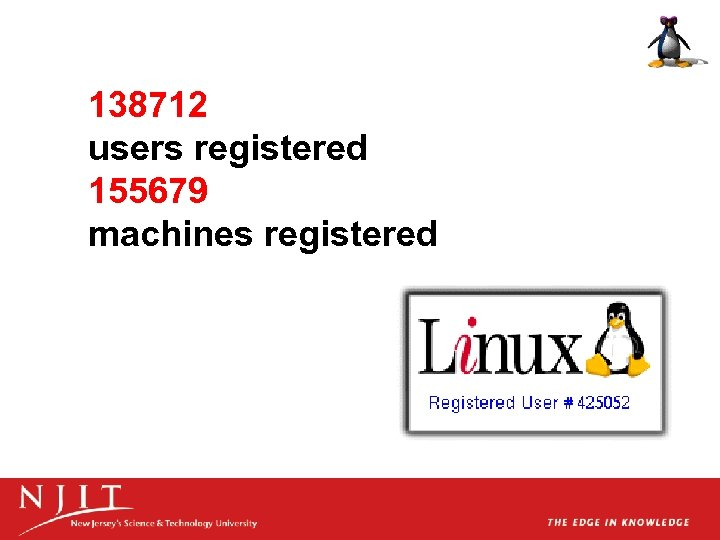 138712 users registered 155679 machines registered