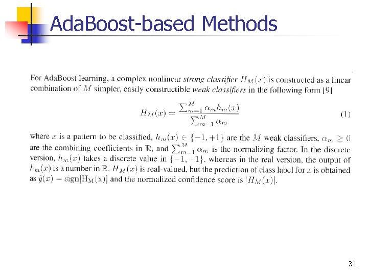 Ada. Boost-based Methods 31