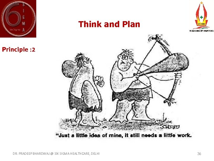 Think and Plan Principle : 2 DR. PRADEEP BHARDWAJ @ SIX SIGMA HEALTHCARE, DELHI