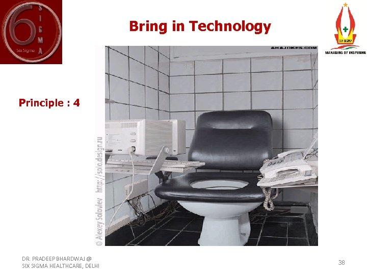 Bring in Technology Principle : 4 DR. PRADEEP BHARDWAJ @ SIX SIGMA HEALTHCARE, DELHI
