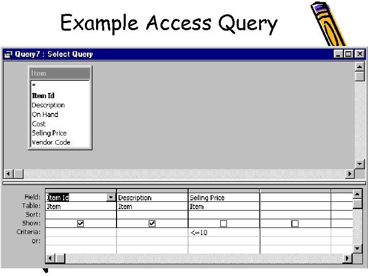 Example Access Query