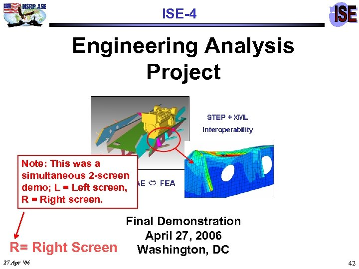 ISE-4 Engineering Analysis Project Note: This was a simultaneous 2 -screen demo; L =