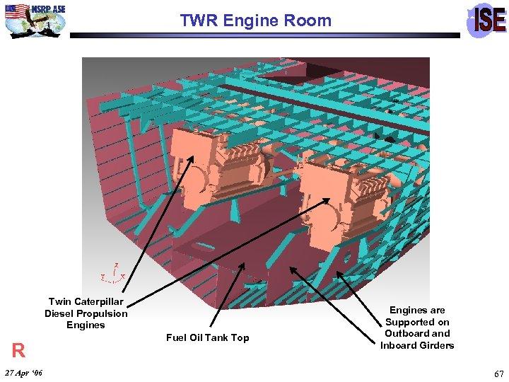 TWR Engine Room Twin Caterpillar Diesel Propulsion Engines R 27 Apr ' 06 Fuel