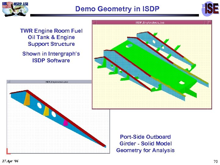 Demo Geometry in ISDP TWR Engine Room Fuel Oil Tank & Engine Support Structure