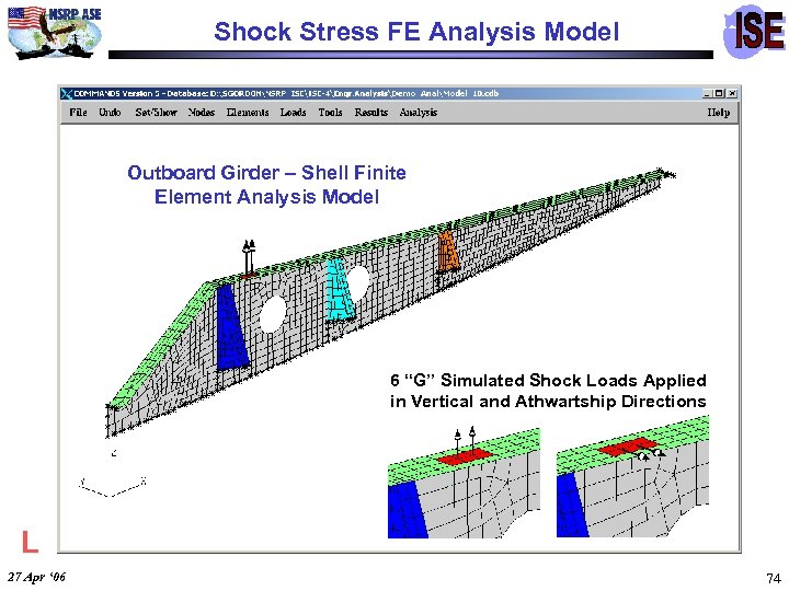 Shock Stress FE Analysis Model Outboard Girder – Shell Finite Element Analysis Model 6