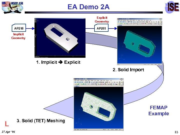 EA Demo 2 A Explicit Geometry AP 218 AP 203 Implicit Geometry 1. Implicit