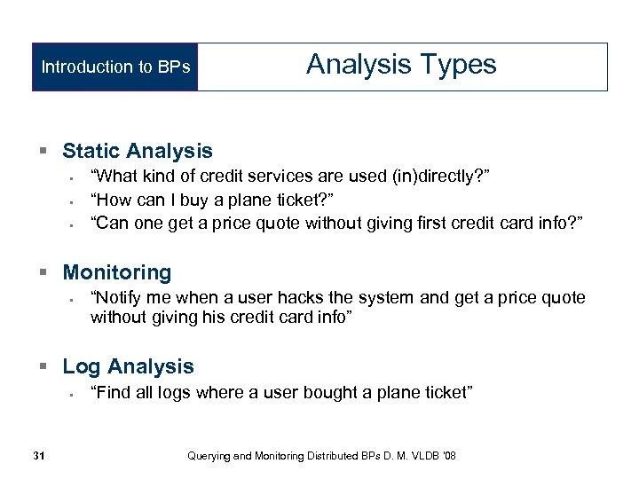"""Introduction to BPs Analysis Types § Static Analysis • • • """"What kind of"""
