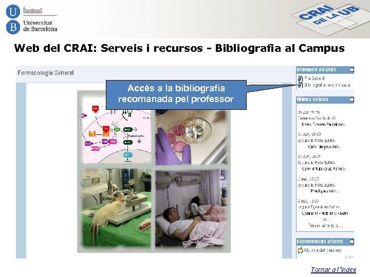 Web del CRAI: Serveis i recursos - Bibliografia al Campus Accés a la bibliografia