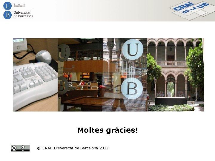 Moltes gràcies! © CRAI, Universitat de Barcelona 2012