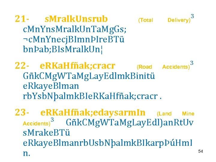 21 s. Mralk. Unsrub c. Mn. Yns. Mralk. Un. Ta. Mg. Gs; ¬c. Mn.