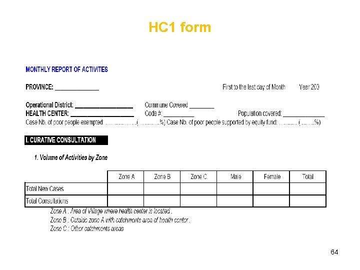 HC 1 form 64