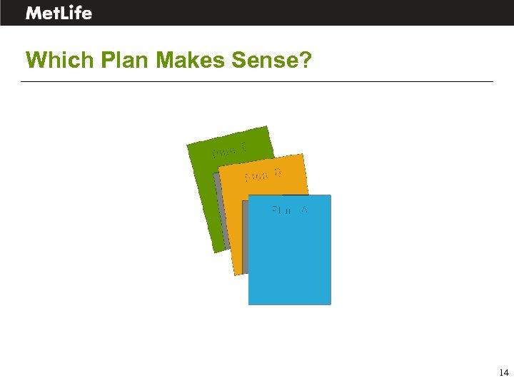 Which Plan Makes Sense? 14