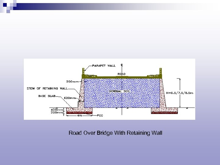 Road Over Bridge With Retaining Wall