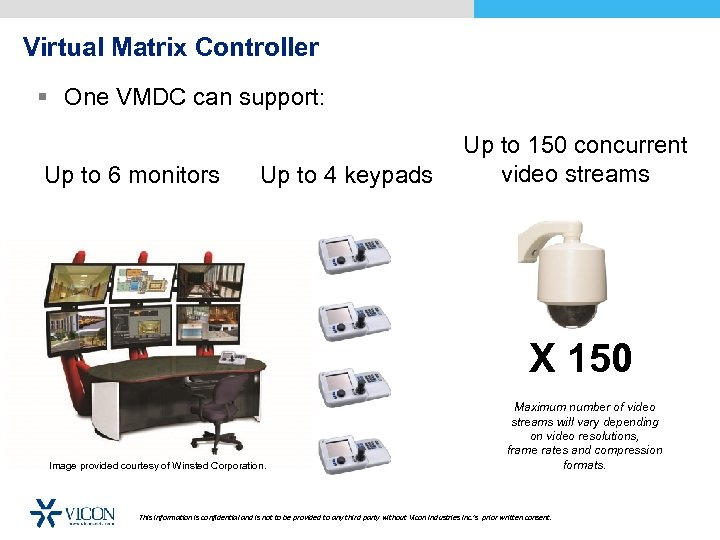 Virtual Matrix Controller § One VMDC can support: Up to 6 monitors Up to