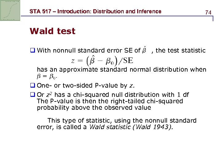 STA 517 Introduction Distribution and Inference 1