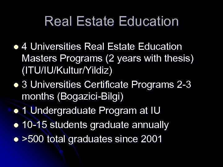 Real Estate Education 4 Universities Real Estate Education Masters Programs (2 years with thesis)