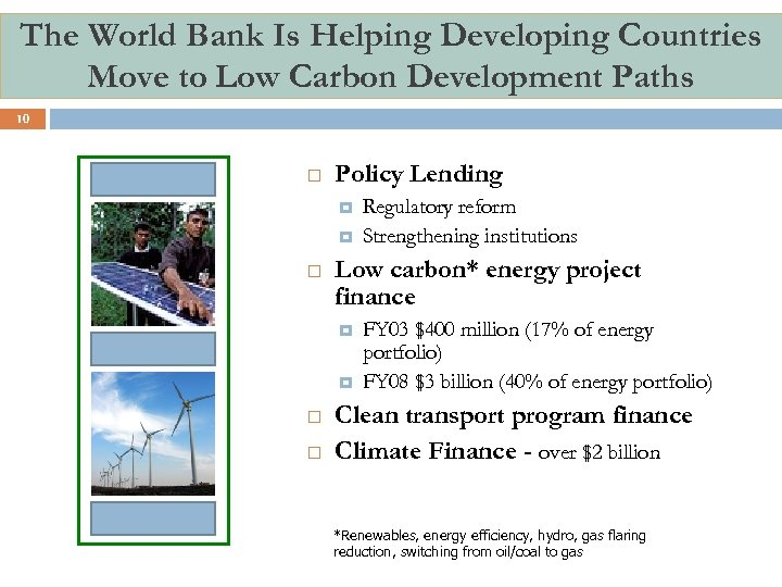 The World Bank Is Helping Developing Countries Move to Low Carbon Development Paths 10