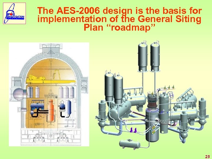 "The AES-2006 design is the basis for implementation of the General Siting Plan ""roadmap"""
