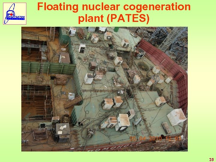 Floating nuclear cogeneration plant (PATES) 35