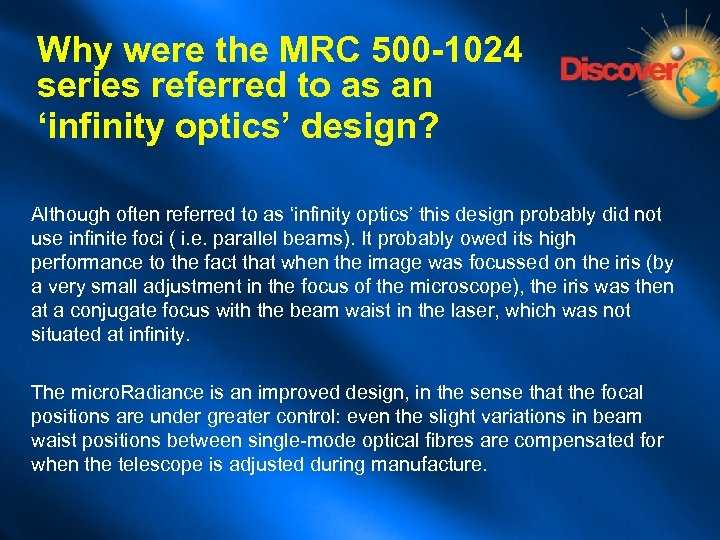 Optics in Confocal Microscopy What is a