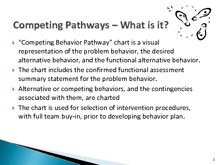 """Competing Pathways – What is it? """"Competing Behavior Pathway"""" chart is a visual representation"""
