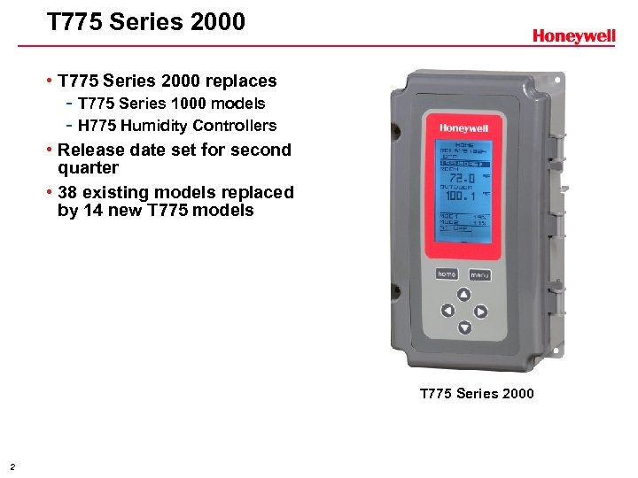 T 775 Series 2000 • T 775 Series 2000 replaces - T 775 Series