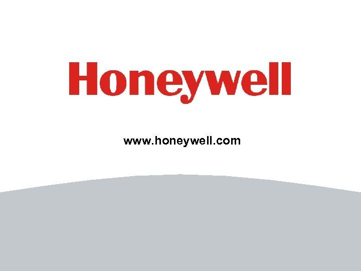 www. honeywell. com 34